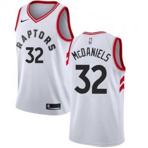 Nike NBA Maillots De Basket KJ McDaniels Toronto Raptors Blanc Enfant Association Edition No.32