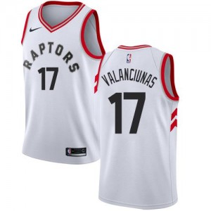 Nike Maillot Basket Jonas Valanciunas Toronto Raptors Blanc #17 Enfant Association Edition