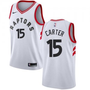 Nike NBA Maillots De Carter Raptors Association Edition No.15 Enfant Blanc