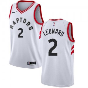 Nike NBA Maillots De Basket Leonard Toronto Raptors Blanc Enfant Association Edition #2