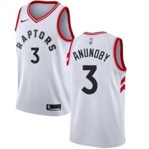 Nike Maillots De Anunoby Toronto Raptors #3 Enfant Blanc Association Edition