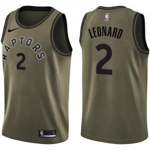 Maillots De Leonard Raptors No.2 Nike Homme vert Salute to Service
