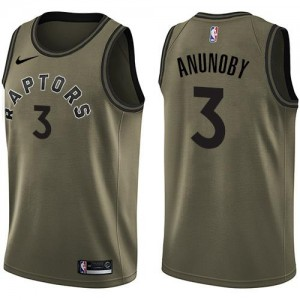 Maillots Basket Anunoby Toronto Raptors Nike vert Salute to Service #3 Enfant