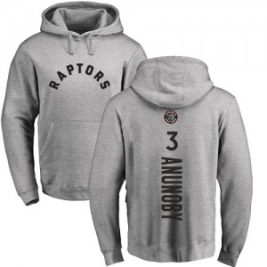 Nike NBA Sweat à capuche Basket Anunoby Toronto Raptors Pullover #3 Homme & Enfant Ash Backer