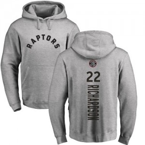 Nike Sweat à capuche Basket Malachi Richardson Toronto Raptors No.22 Ash Backer Pullover Homme & Enfant