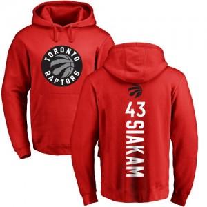 Hoodie Basket Pascal Siakam Toronto Raptors No.43 Pullover Rouge Backer Nike Homme & Enfant