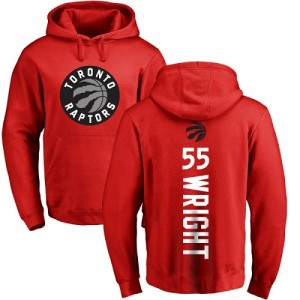 Nike Hoodie Wright Raptors No.55 Rouge Backer Pullover Homme & Enfant