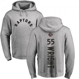 Hoodie Wright Toronto Raptors Homme & Enfant Nike Ash Backer Pullover No.55