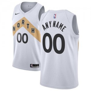 Nike Personnalisable Maillot Basket Raptors Homme City Edition Blanc