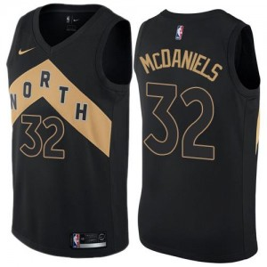 Nike NBA Maillots Basket McDaniels Raptors Noir Enfant #32 City Edition