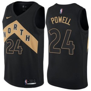 Maillots De Basket Powell Toronto Raptors #24 Nike City Edition Noir Enfant