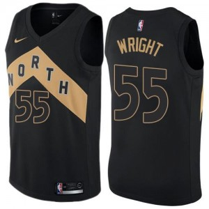 Nike NBA Maillots De Wright Toronto Raptors #55 City Edition Enfant Noir
