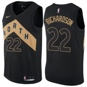 Nike NBA Maillots De Richardson Raptors Enfant #22 Noir City Edition
