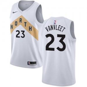 Nike Maillot De Basket Fred VanVleet Toronto Raptors City Edition No.23 Blanc Enfant