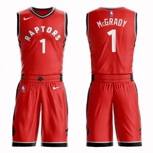 Maillot Tracy Mcgrady Raptors Nike Homme Rouge No.1 Suit Icon Edition