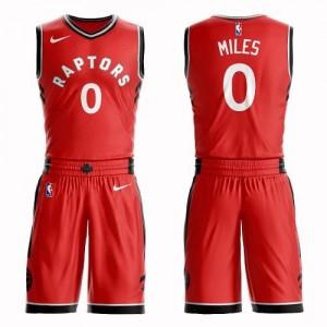 Nike NBA Maillot De Miles Raptors Suit Icon Edition Homme #0 Rouge
