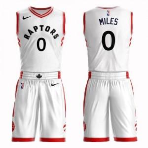 Maillots Basket Miles Toronto Raptors Nike Blanc Enfant #0 Suit Association Edition