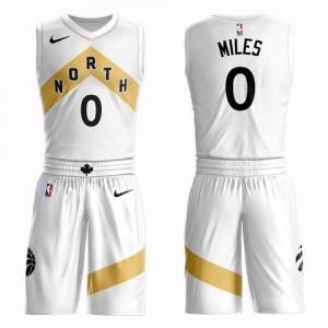 Nike NBA Maillots Basket C.J. Miles Toronto Raptors Suit City Edition Homme Blanc #0