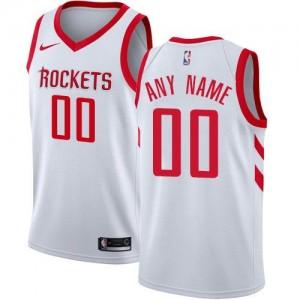 Nike Personnaliser Maillot De Basket Rockets Blanc Homme Association Edition