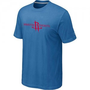 T-Shirt De Basket Rockets Bleu clair Homme Big & Tall Primary Logo