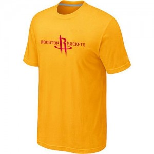 T-Shirt Basket Houston Rockets Big & Tall Primary Logo Jaune Homme