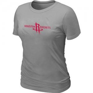 NBA T-Shirt Basket Rockets Big & Tall Primary Logo Gris Femme
