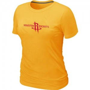 NBA T-Shirt De Basket Rockets Jaune Big & Tall Primary Logo Femme