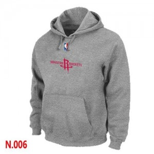 NBA Hoodie Basket Houston Rockets Gris Homme Pullover