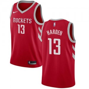 Nike NBA Maillots De Basket Harden Houston Rockets Icon Edition Homme No.13 Rouge