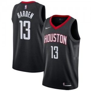 Nike NBA Maillots De Basket James Harden Houston Rockets Noir #13 Statement Edition Homme