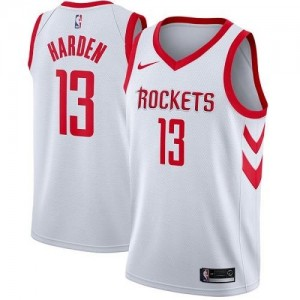 Nike NBA Maillot Basket Harden Rockets No.13 Blanc Enfant Association Edition