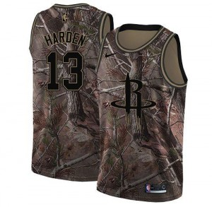 Nike NBA Maillots Basket Harden Houston Rockets No.13 Realtree Collection Enfant Camouflage