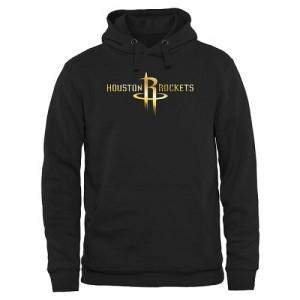 Sweat à capuche Houston Rockets Homme Noir Gold Collection Pullover