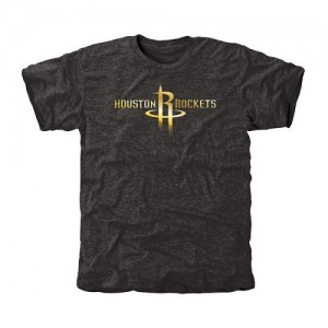 Tee-Shirt Basket Houston Rockets Noir Homme Gold Collection Tri-Blend