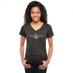 Tee-Shirt De Rockets Femme Gold Collection V-Neck Tri-Blend Noir