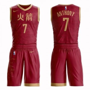 Nike NBA Maillot Anthony Rockets #7 Rouge Suit City Edition Homme