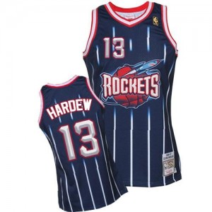 Maillot Basket James Harden Houston Rockets Mitchell and Ness 1996-97 Hardwood Classics Throwback No.13 bleu marine Homme