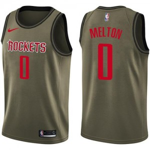 Nike NBA Maillot De De'Anthony Melton Rockets Enfant #0 vert Salute to Service