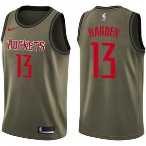 Nike NBA Maillot De Harden Rockets Salute to Service Homme vert No.13