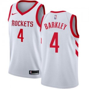 Nike Maillots Basket Barkley Rockets Homme Association Edition No.4 Blanc