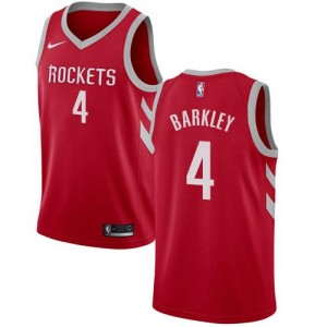 Nike NBA Maillot Barkley Rockets Homme Icon Edition Rouge #4
