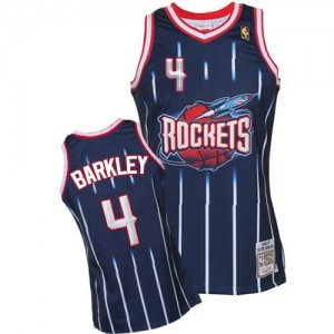 Mitchell and Ness NBA Maillots Basket Barkley Rockets 1996-97 Hardwood Classics Throwback Homme bleu marine No.4