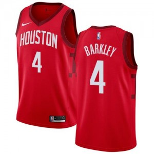 Maillots De Charles Barkley Houston Rockets Earned Edition #4 Nike Homme Rouge