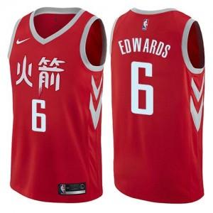 Maillots De Basket Vincent Edwards Houston Rockets City Edition #6 Homme Rouge Nike