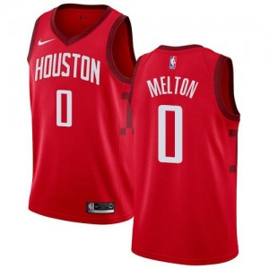 Nike NBA Maillot Basket Melton Rockets Rouge Homme #0 Earned Edition