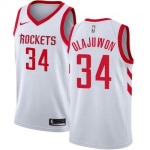 Nike Maillots De Hakeem Olajuwon Rockets Association Edition Enfant No.34 Blanc