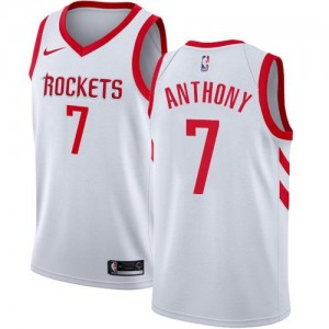 Nike Maillots De Basket Anthony Rockets #7 Enfant Blanc Association Edition