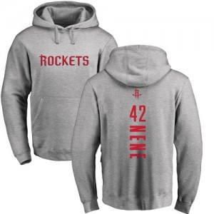 Nike NBA Hoodie De Nene Houston Rockets #42 Homme & Enfant Ash Backer Pullover