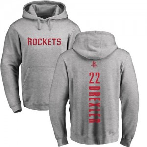 Nike Hoodie De Drexler Houston Rockets No.22 Homme & Enfant Pullover Ash Backer