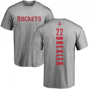 T-Shirts De Basket Drexler Houston Rockets Nike Homme & Enfant Ash Backer No.22